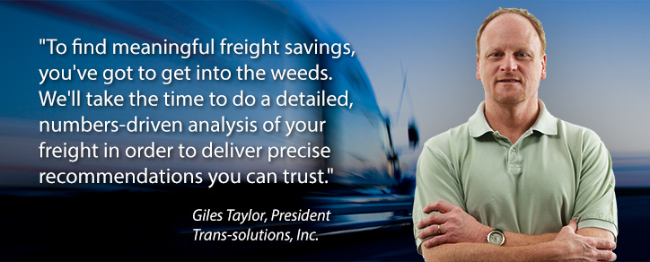 Giles Taylor delivers freight analysis you can trust.